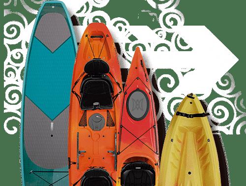 Alquiler y ocasión de tablas y canoas
