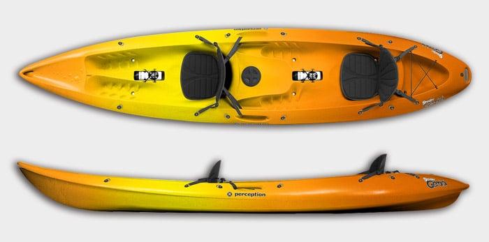 kayak-perception-gemini-naranja-amarillo