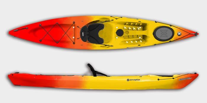 kayak-perception-triumph-rojo-amarillo