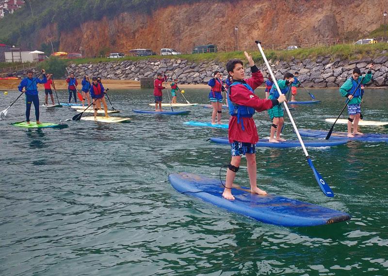 Laida Kanoak - Descensos stand up paddle, ría de Gernika, Udaibai