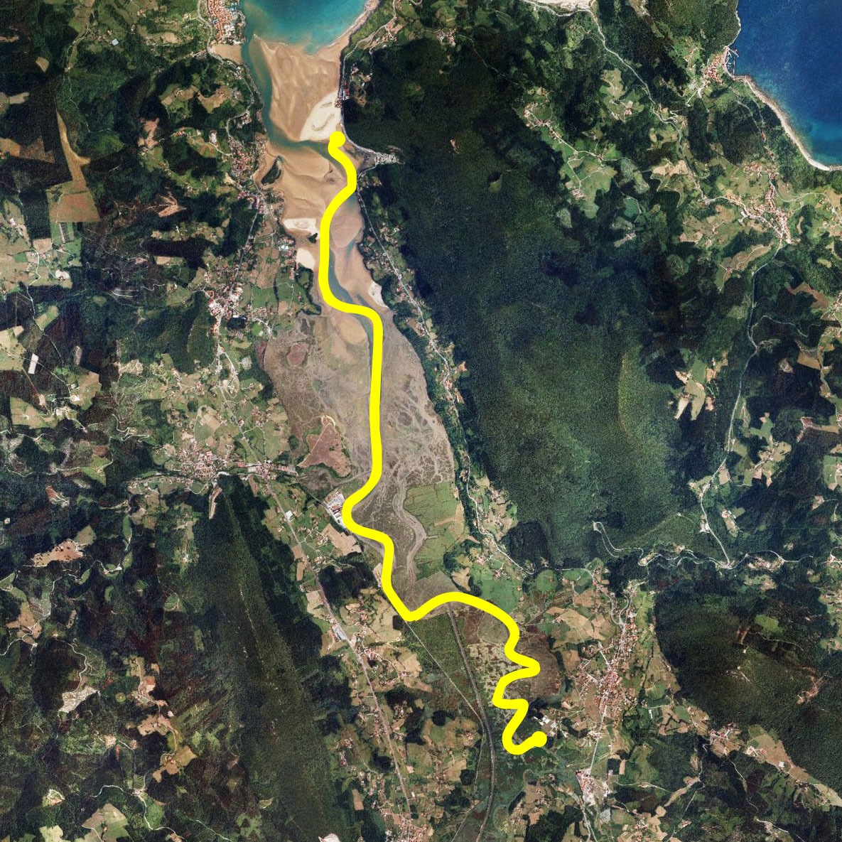 Laida Kanoak - Descensos en canoa, kayak y stand up pddle, mapa Urdaibai
