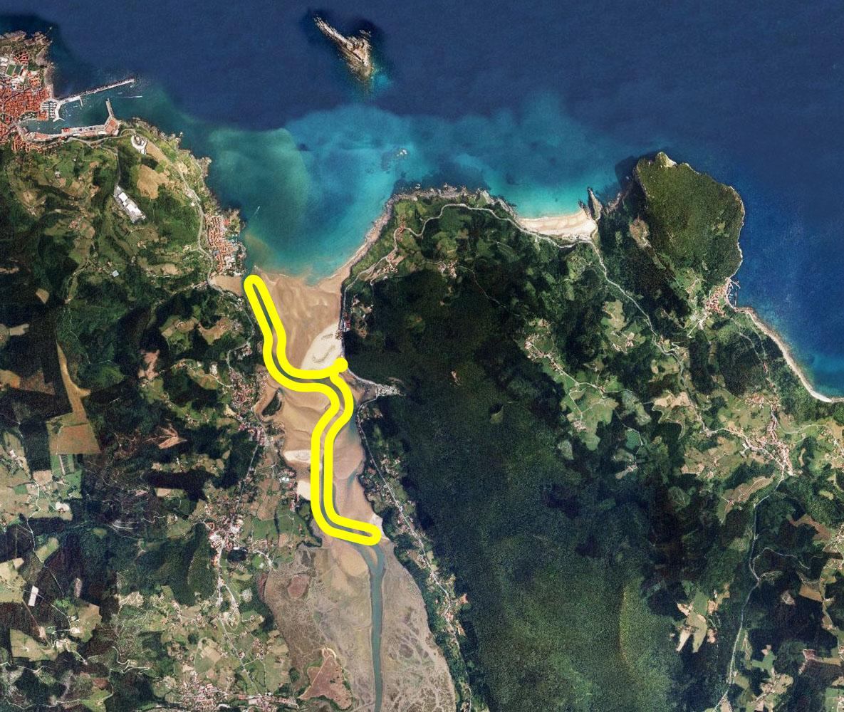 Laida Kanoak - Paseos en canoa, kayak, piragua y stand up paddle mapa Urdaibai