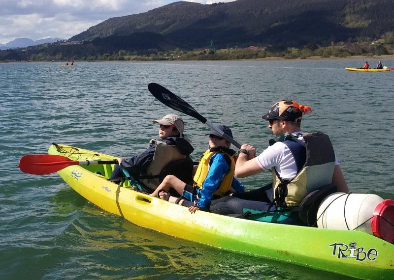 Paseosen paddle surf y canoa por Urdaibai