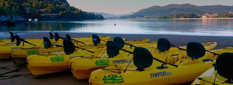 Descensos en canoa y paddle por Urdaibai